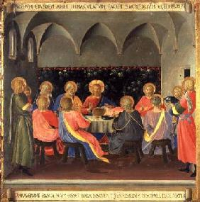 The Last Supper, detail from panel three of the Silver Treasury of Santissima Annunziata