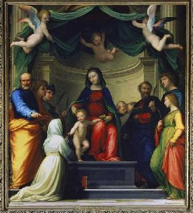 The mystical wedding of the H.Katharina of sienna,