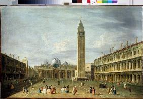 The St Mark's Square in Venice
