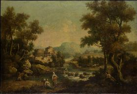 Italian Landscape with a Mountain Stream
