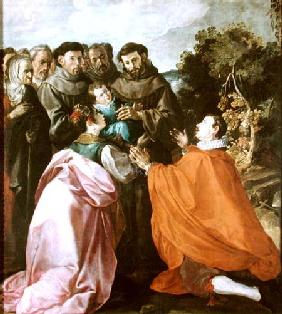 Healing of St. Bonaventure by St. Francis of Assisi