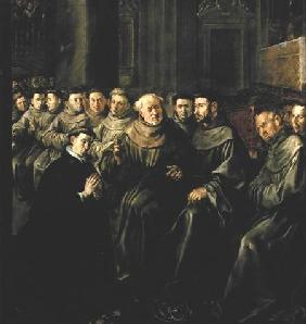 Welcoming St. Bonaventure (1221-74) into the Franciscan Order