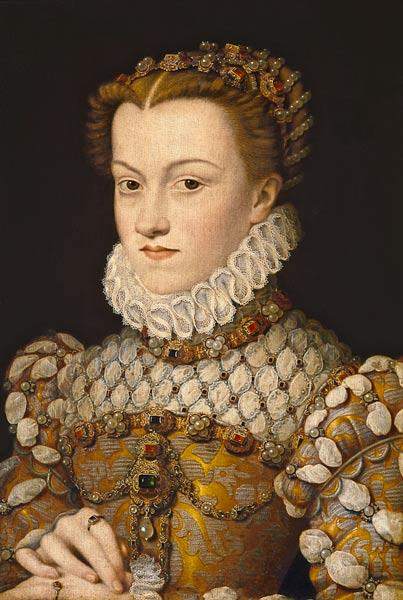 Portrait of Elizabeth of Austria (1554-92) Queen of France