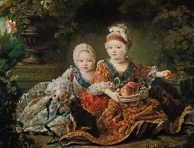 Louis de France (1754-93) duc de Berry and Louis de France (1755-1824) comte de Provence, future Kin