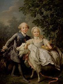 Child portrait Charles Philippe of France with nur