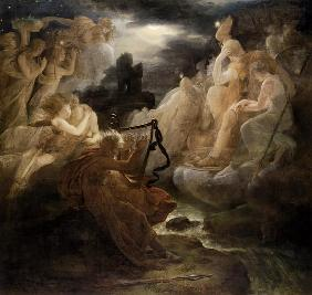 Ossian wakes the spirits on the shore of the Lora