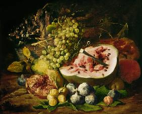 Still Life of Fruit on a Ledge