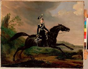 Equestrian Portrait of Grand Prince Alexander Nikolayevich (1818-1881)
