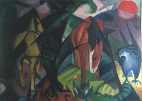 Horse and Eagle, 1912 (oil on canvas)