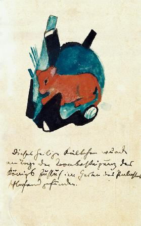 The sacred Kälbchen (on postcard to Else Lasker pu