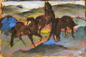 Horses on the pasture II. (three horses)