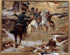 Death of the major general Nikolay Sleptsov on a fight in Chechnya on 10 December 1851