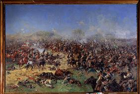 The Battle of Borodino on August 26, 1812. Third French Attak