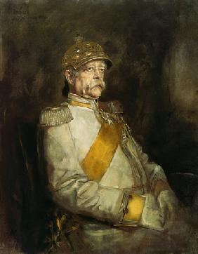 Prince Otto of Bismarck in the uniform of the on a