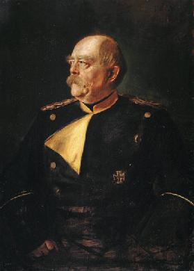 Portrait of Chancellor Otto von Bismarck (1815-1898) in Uniform