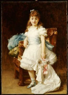 Portrait of the Lady Sybil Primrose as a child.