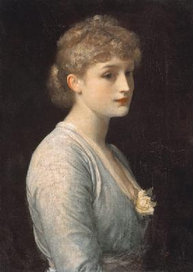 Dreamy portrait of a young woman.