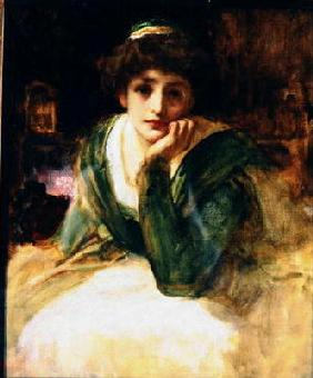 Oil study for Desdemona, c.1889 (oil on canvas)