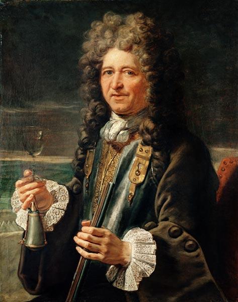Portrait presumed to be Sebastien le Pre - French School en reproducción impresa o copia al óleo sobre lienzo.