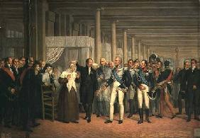 Cataract Operation Performed by Guillaume Dupuytren (1777-1835) in the Presence of King Charles X (1