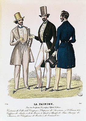 Fashion plate depicting male clothing, published La Fashion''