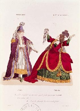 Jean-Baptiste Brizard (1721-91) in the role of Joad and Mademoiselle Dumesnil (1713-1803) as Athalie