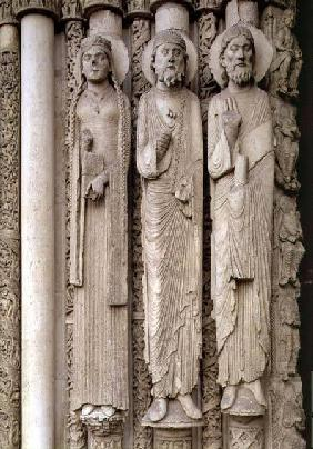 Old Testament figures, from the north embrasures of the central door of the Royal Portal of the west