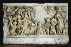 Relief depicting Scenes from the Passion of Christ: The Arrest and the Flagellation