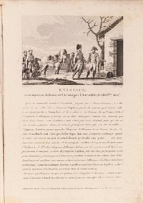 The meeting of the commanders of the French and German forces in Schitz, 5th December 1805