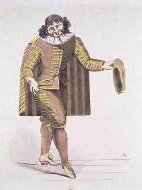 Sganarelle in 'L'Ecole des Maris' by Moliere, premiered 24th June 1661 at the Palais-Royal Theatre,
