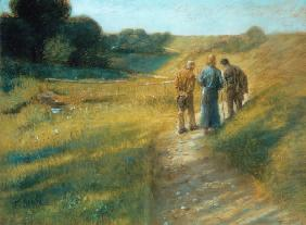 The Road to Emmaus / Fritz von Uhde