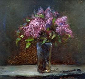 Lilacs (oil on canvas)