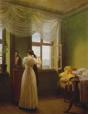 Georg Friedrich Kersting - In front of the mirror