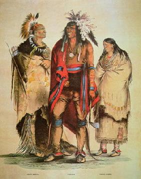 North American Indians (colour litho)