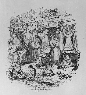 Monmouth Street, illustration from ''Sketches by Boz'' Charles Dickens