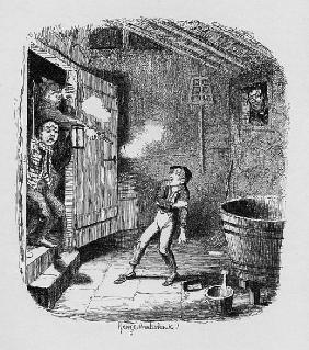 The Burglary, from ''The Adventures of Oliver Twist'' Charles Dickens (1812-70) 1838, published by C