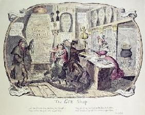 The Gin Shop, 1829 (etching)