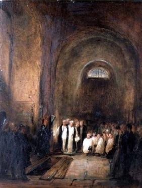 Turner's (1775-1851) Burial in the Crypt of St. Paul's