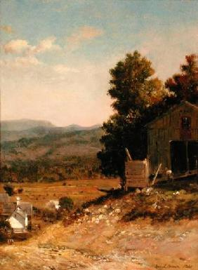 Study of Old Barn, West Campton, New Hampshire