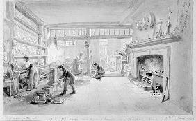 The Kitchen of Mr. Sander''s Coffee and Eating House, Newgate Street