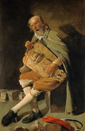 The singing hurdy-gurdy player