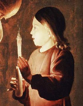 St. Joseph the Carpenter, detail of the Infant Christ