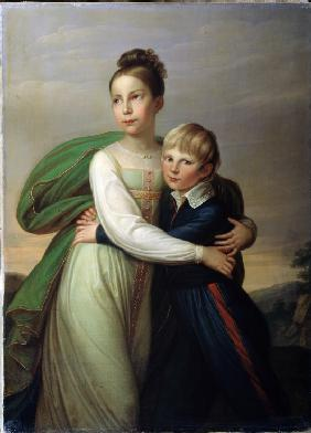 Prince Albert of Prussia (1809-1872) and Princess Louise of Prussia (1808-1870), children of king Fr