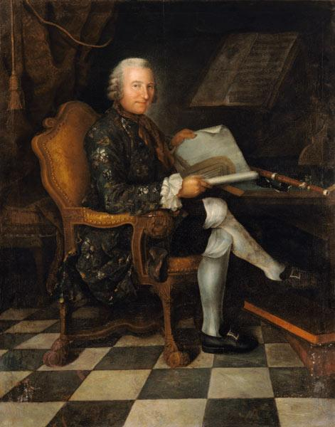 Isaac Egmont von Chasot at his Desk (with Frederick the Great''s Flute)