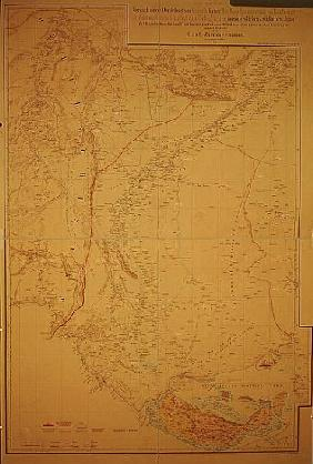 Map of the Cutch region of India and its border with neighbouring Baluchistan, Carl Zimmerman