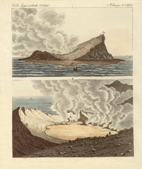 The new volcanic island on the Mediterranean Sea, two months later