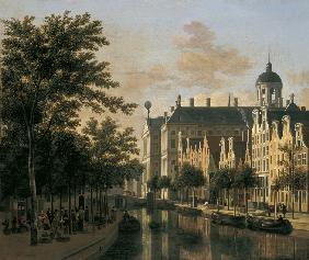 The Nieuwezijds Voorburgwal with the Flower Market, Amsterdam