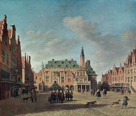 View of the Grote Markt in Haarlem