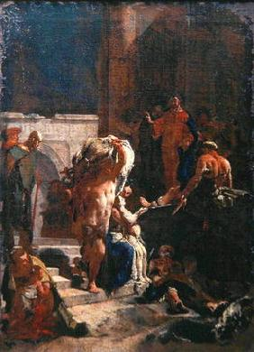 Healing of a Sick Man at the Pool of Bethesda, c.1718-20 (oil on canvas)