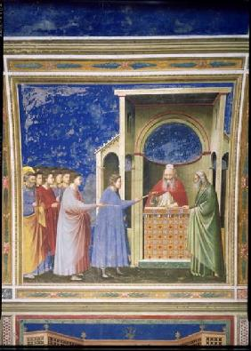 The Virgin's Suitors Presenting their Rods at the Temple